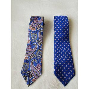 LRN Ralph Lauren Mens Lot Of 2 Classic Necktie New
